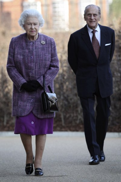 Britain039s Queen Elizabeth and Prince Philip arrive for the official reopening of Kensington Palace in London
