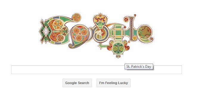 Google celebrates St Patrick's Day