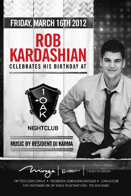 Rob Kardashian Celebrates his 25Th Birthday
