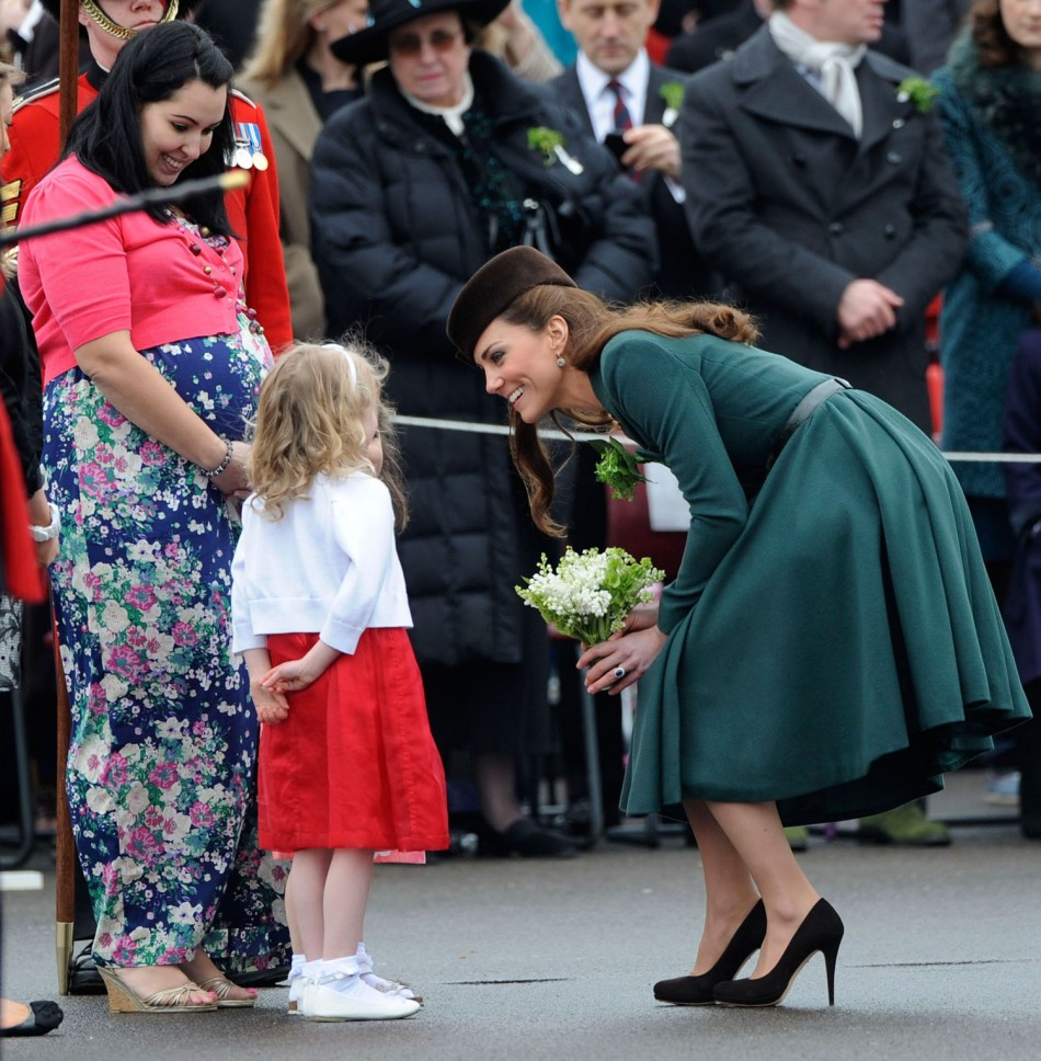 Kate Middleton Marks St Patrick's Day in Elegant Emilia Wickstead Dress