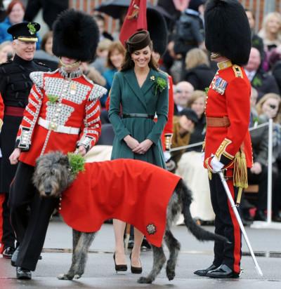 Kate Middleton Marks St Patricks Day in Elegant Emilia Wickstead Dress