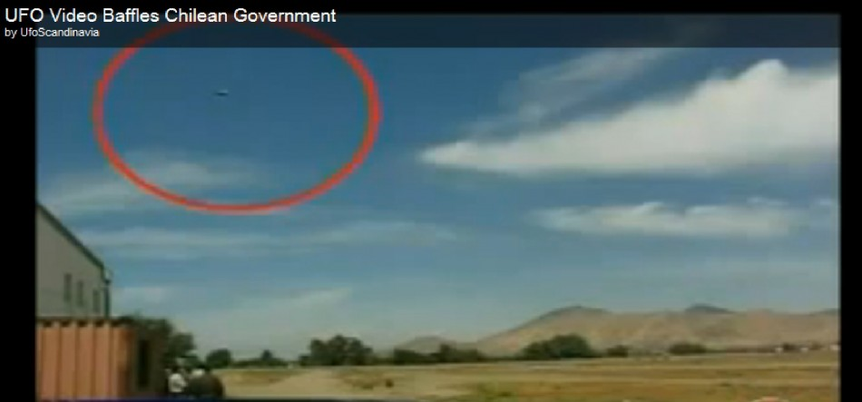 Chilean authorities are left wondering about the unidentified object caught in videos shot at an air force parade in Chile