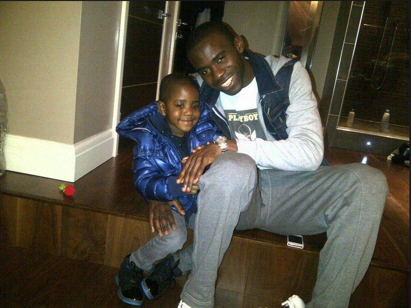 Fabrice Muamba with son