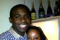 Fabrice Muamba with fiancee Shauna Magunda, who has urged fans to pray for the Bolton star to recover