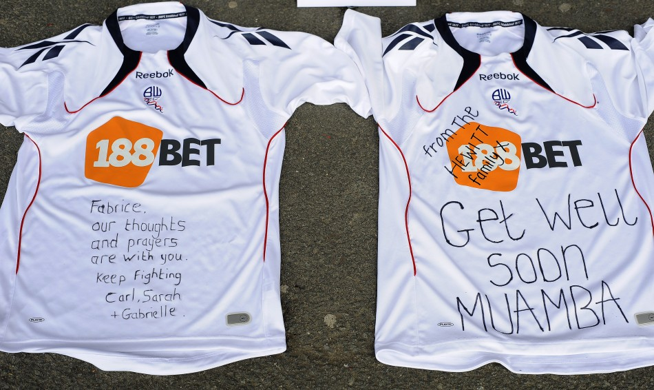 Messages from well-wishers to Fabrice Muamba