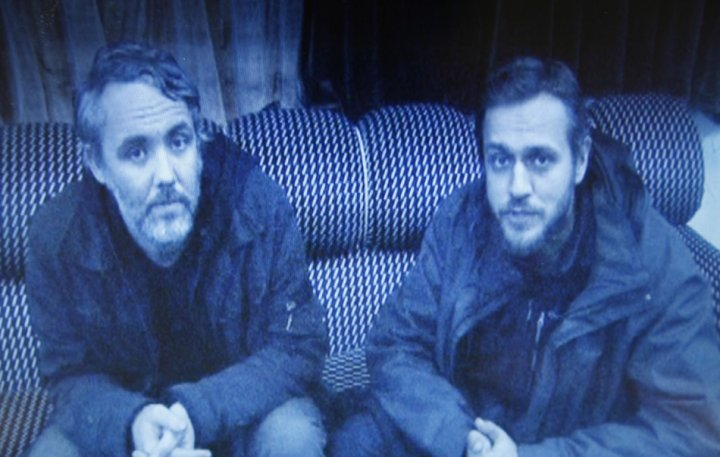 Gareth Montgomery-Johnson (L) and Nicholas Davies-Jones have been released from Libya (Reuters)