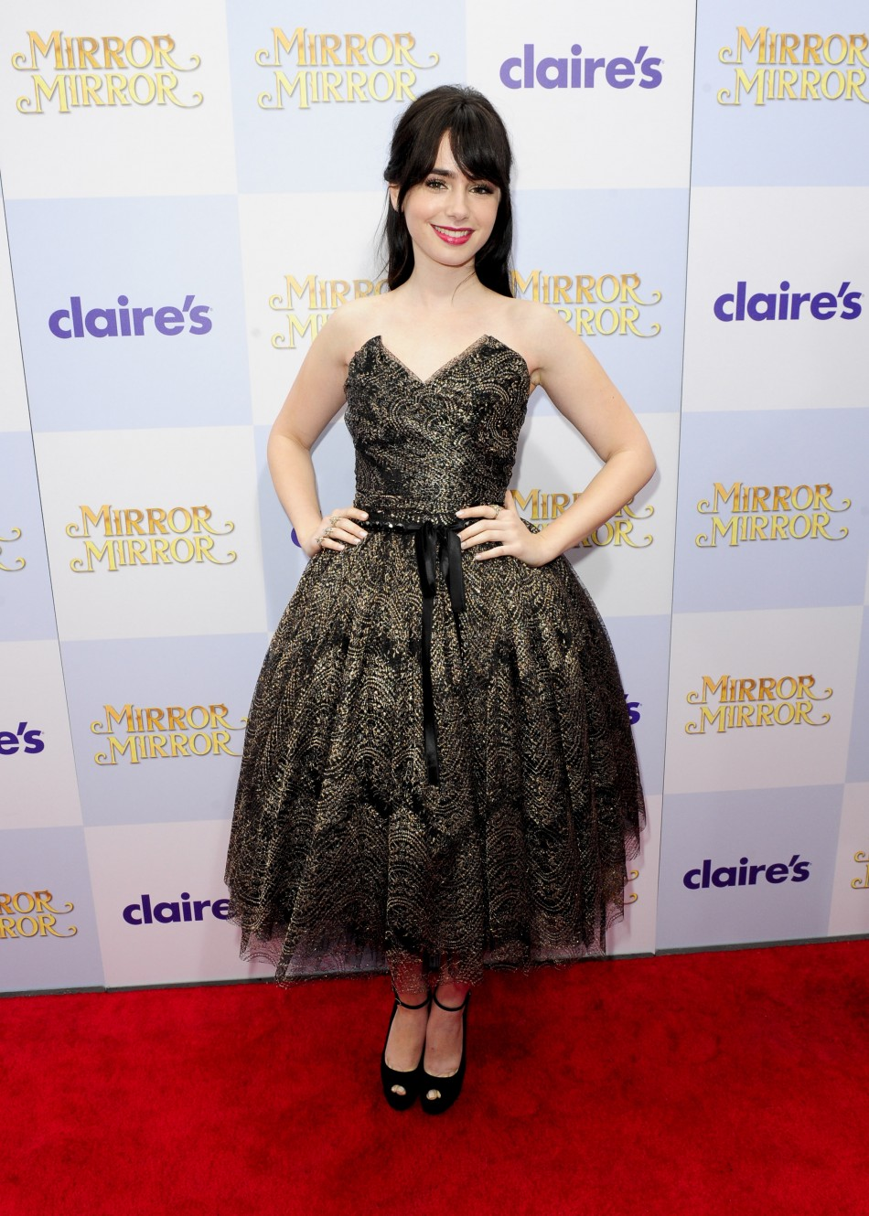 British actress Lily Collins was voted fourth most beautiful woman of 2012 by People Magazine