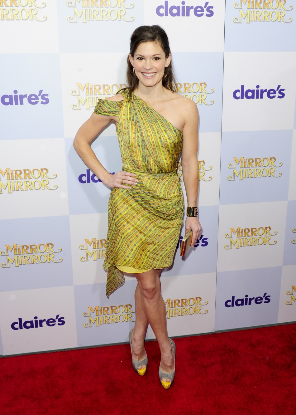 "Actress Bonnie Bentley arrives at the Hollywood world premiere of ""Mirror Mirror"" in Los Angeles, California"