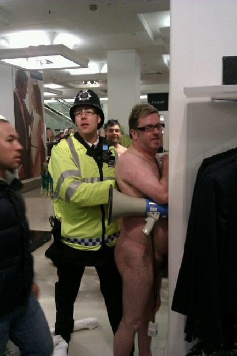 Matt O'Connor arrested at Marks & Spencer in Oxford Street