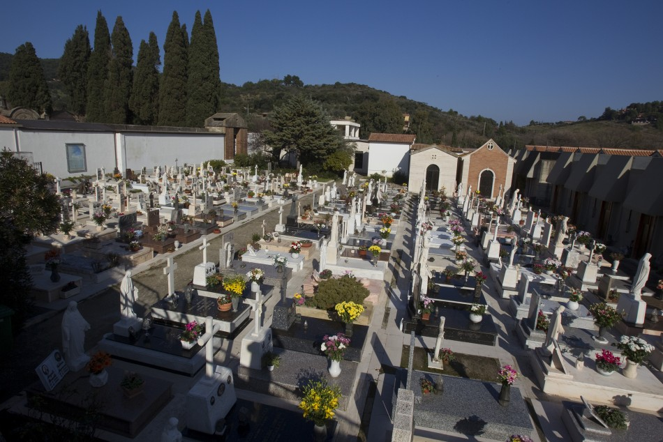 A view of an Italian cemetery