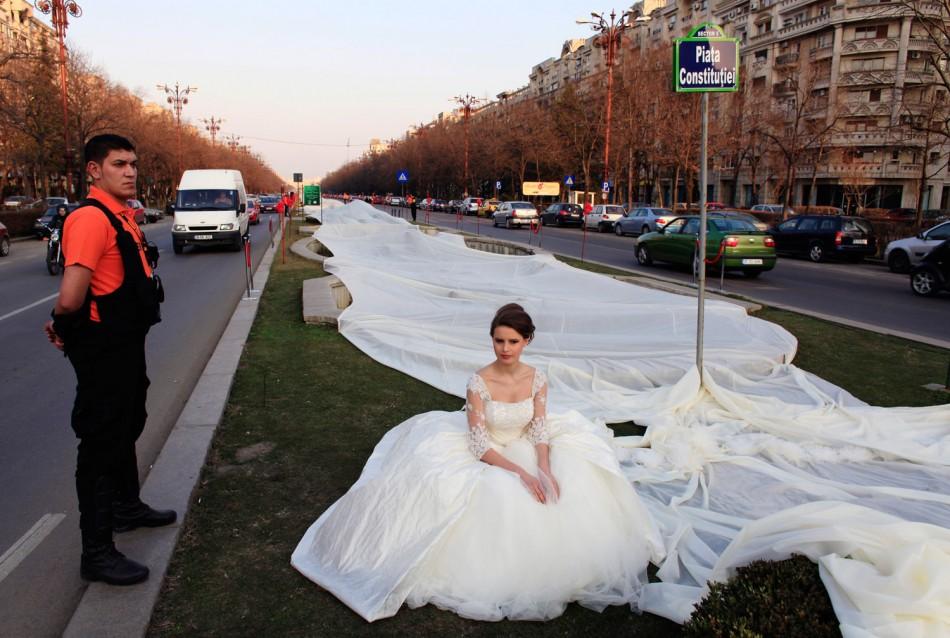 Guinness Longest Wedding Dress Train