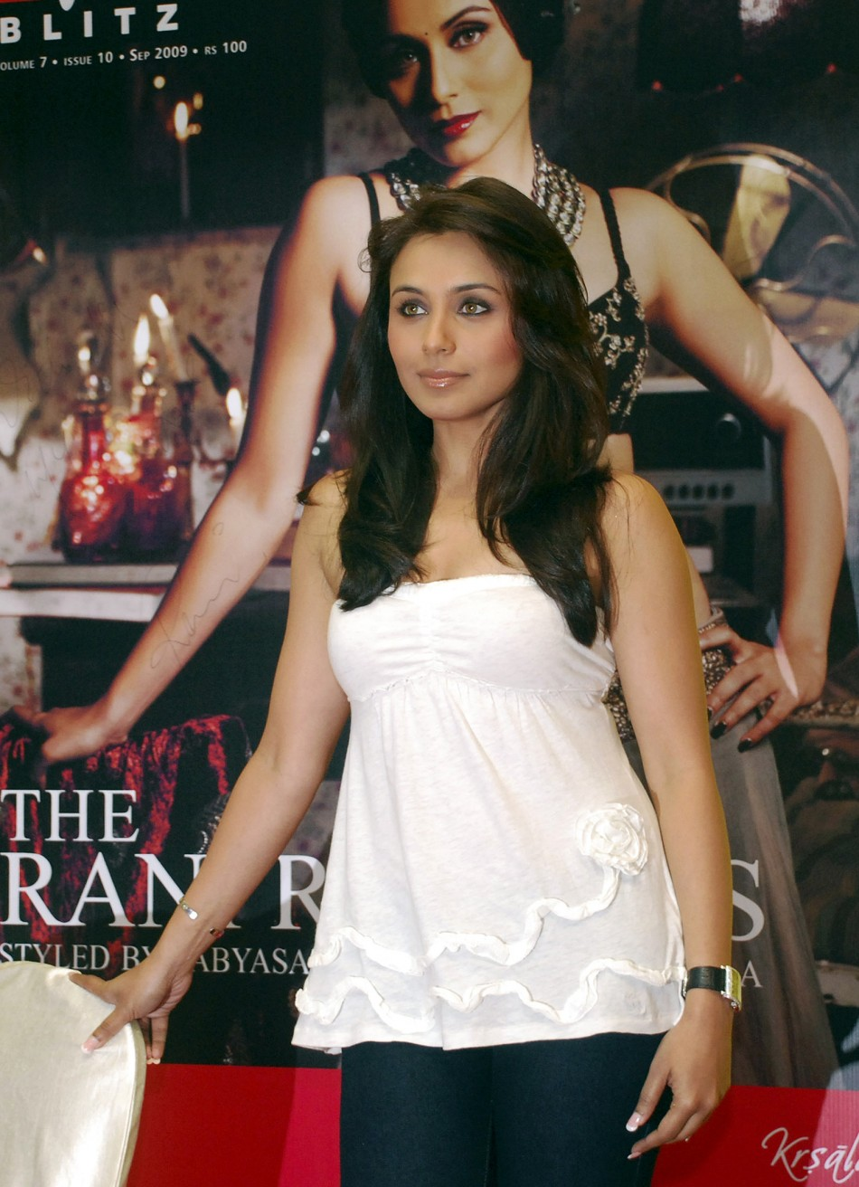 Bollywood actress Rani Mukherjee poses for a picture in Mumbai