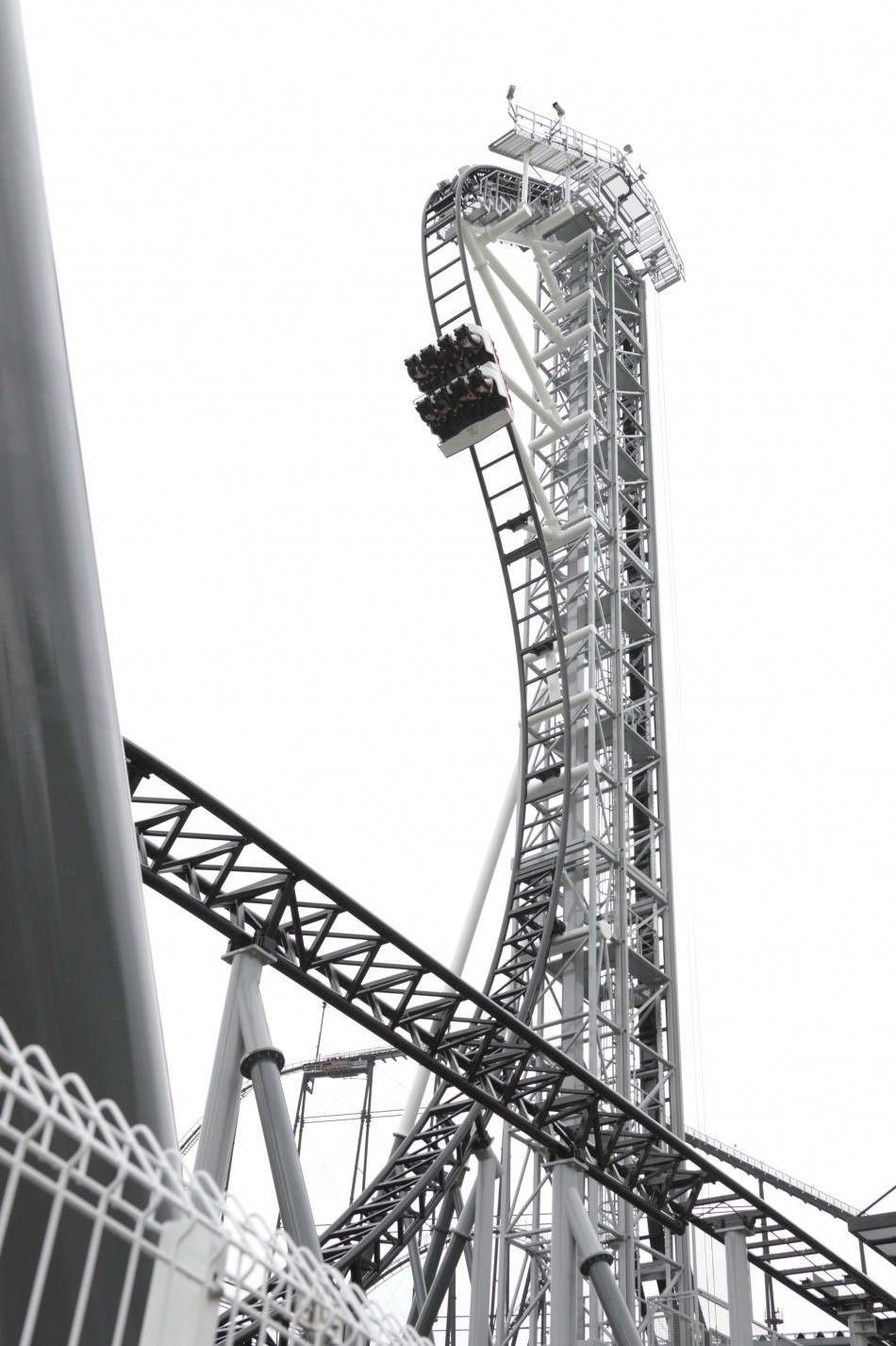 "A handout picture of the world's steepest roller coaster ""Takabisha"""