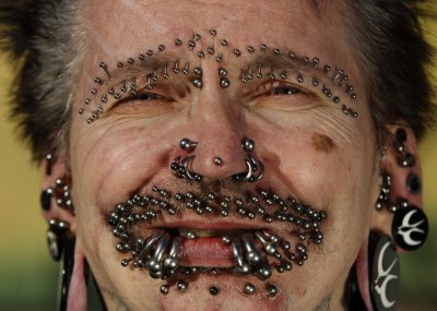 Guinness World Record holder for most pierced man