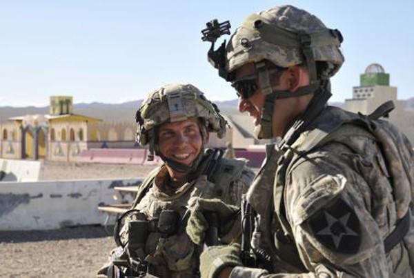 Handout photo of Staff Sgt. Robert Bales at Fort Irwin