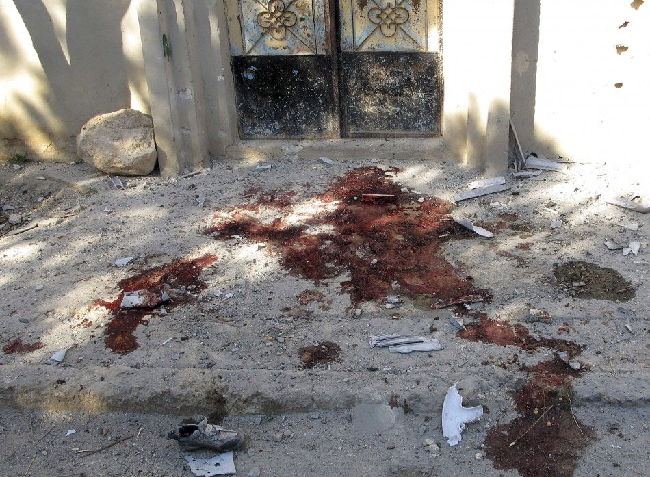Blood stains from Syrian Army assault on Qusayr