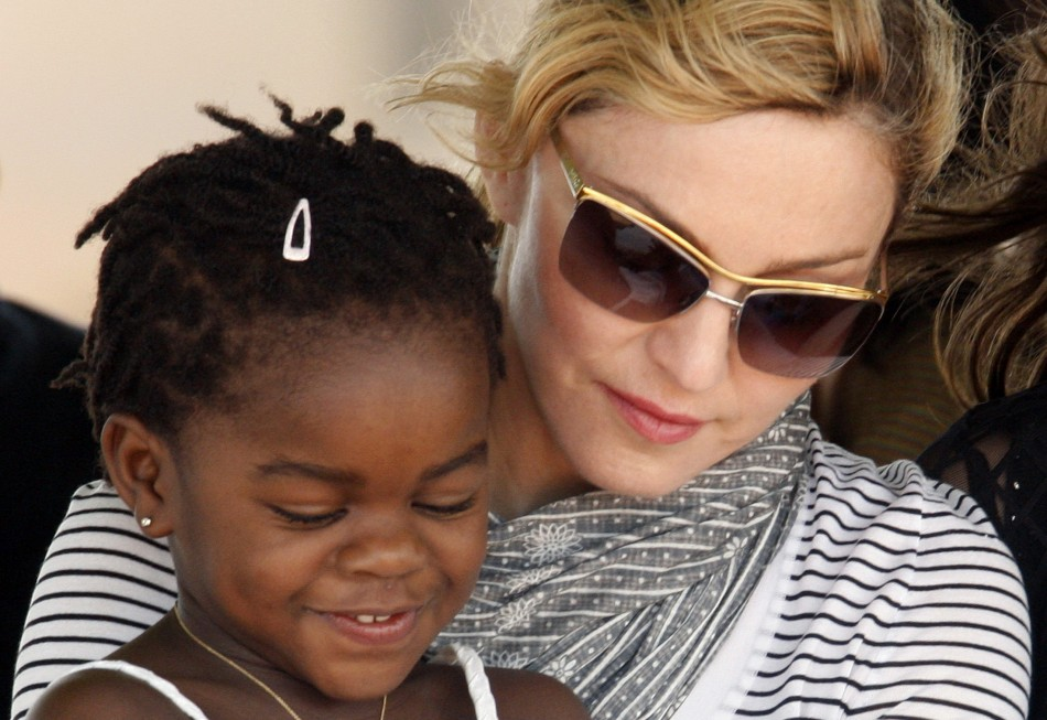 Madonna with Mercy in 2010.Mercy is now six.