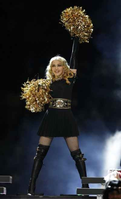 Madonna performing at the NFL Super Bowl