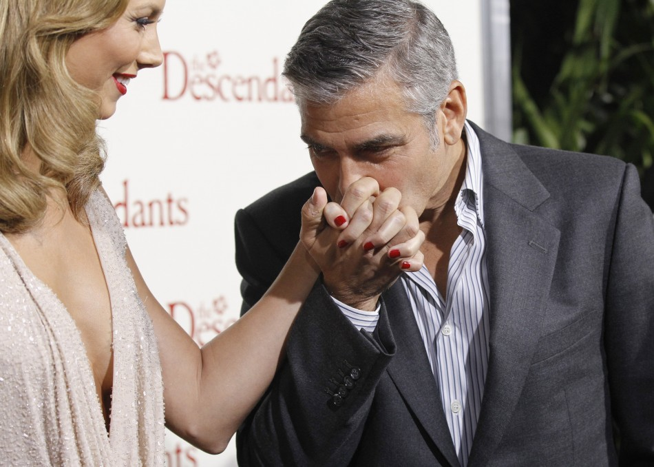 George Clooney Kissing