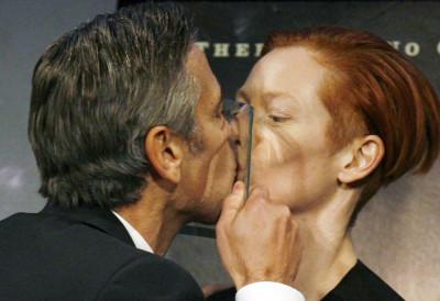 George Clooney Kissing