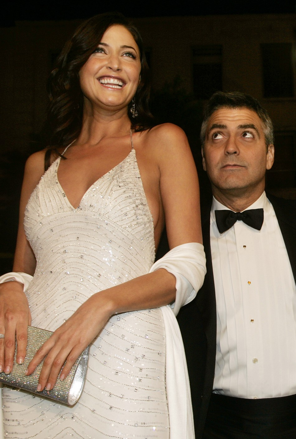 George Clooney About to Hug