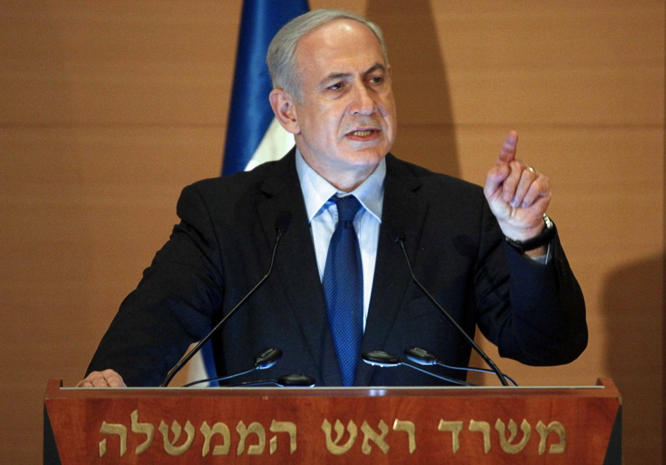 Israel's Prime Minister Benjamin Netanyahu speaks during a conference in Jerusalem