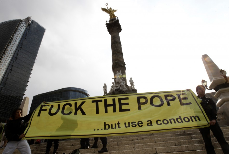 Protest Against Pope