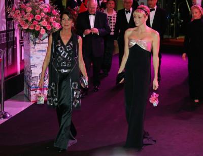 Princess Charlene Dazzles in Swinging London Themed 2012 Rose Ball