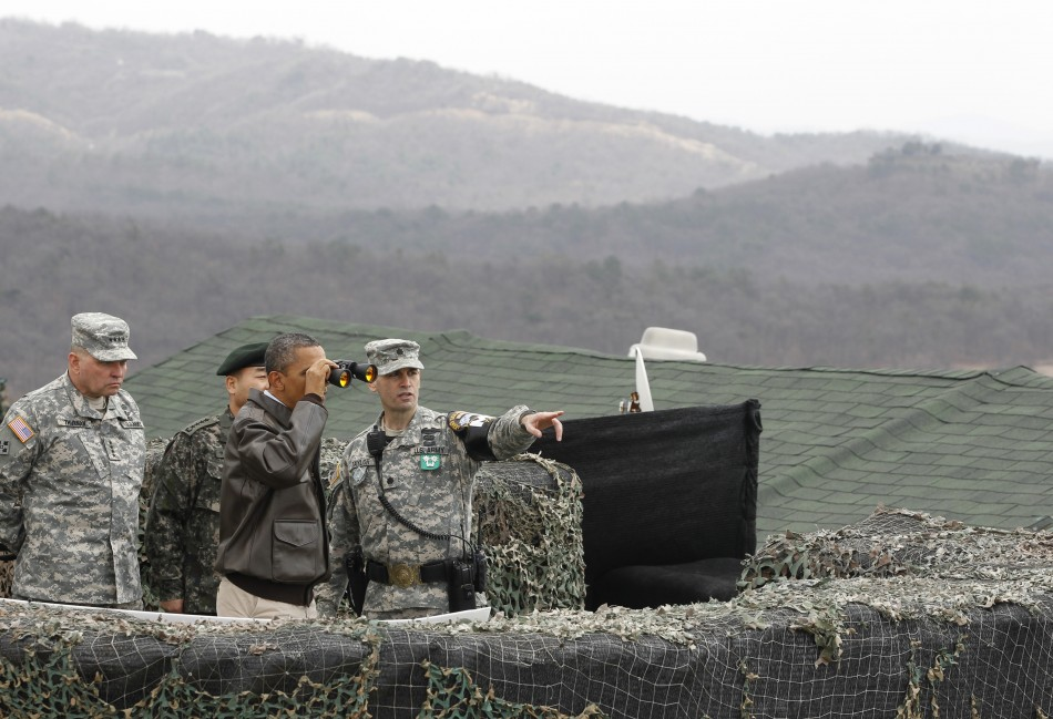 Obama at the Korea DMZ