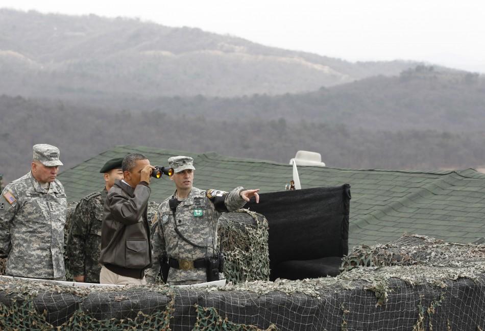 Obama at the Korea DMZ