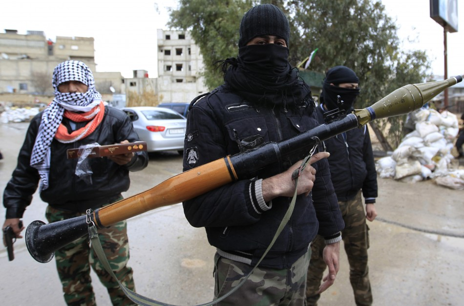 Syrian army defectors Free Syrian Armyrocket-propelled grenade Damascus