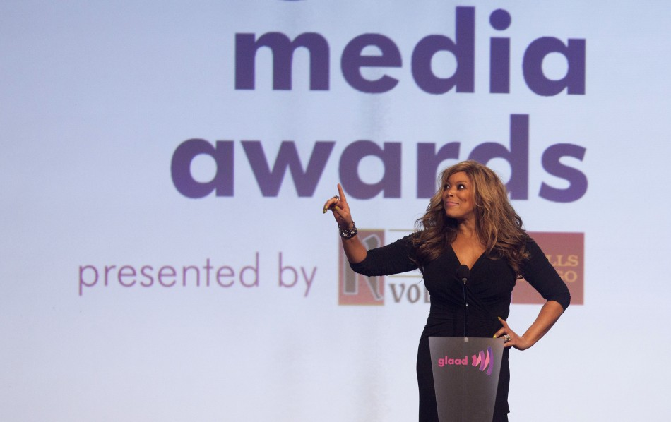 Media personality Williams speaks at 23rd annual GLAAD Media Awards in New York