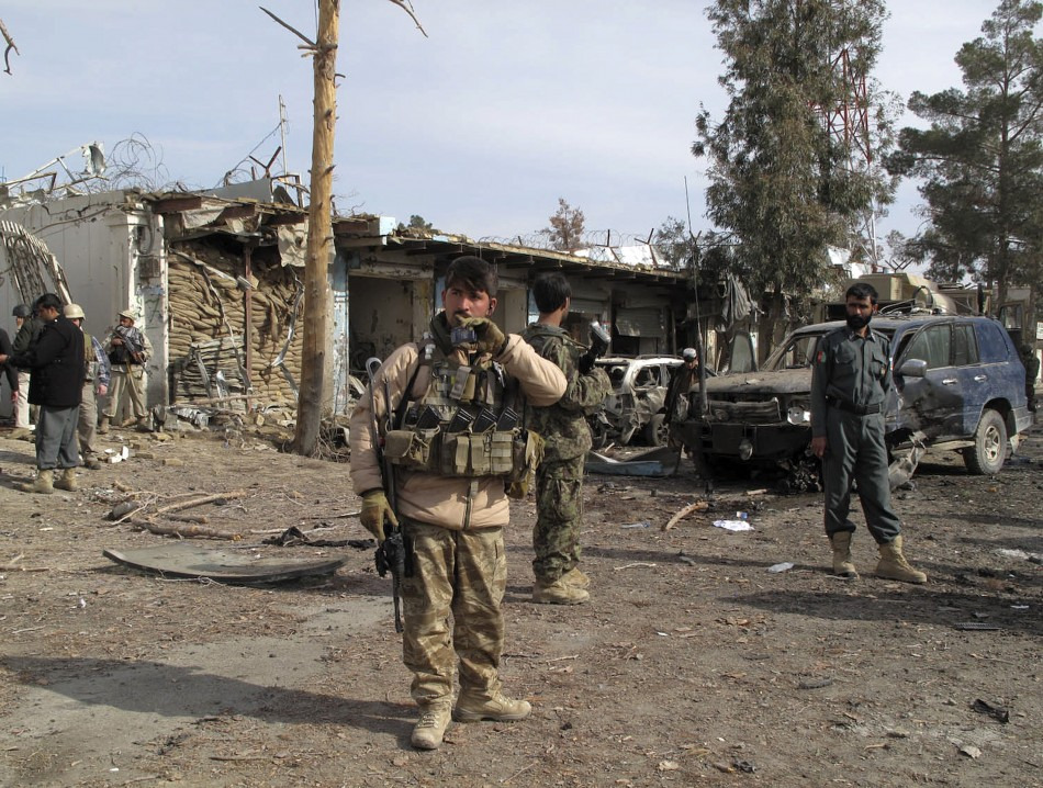 Gunman wearing Afghan army uniform killed two Nato soldiers in Helmand province, southern Afghanistan