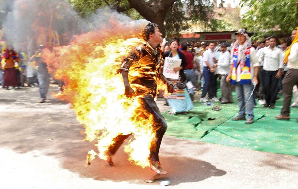Self-immolation protests Tibet