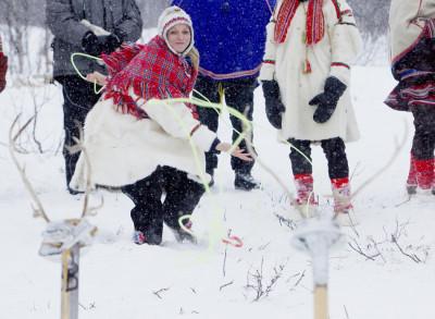 Prince Albert II, Princess Charlene Enjoy a Reindeer Sledge Ride