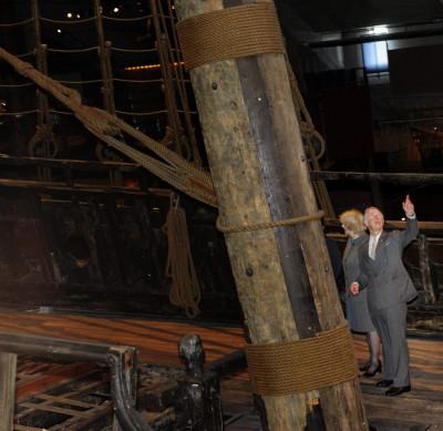 Prince Charles and Duchess of Cornwall Admire 17th Century Vasa Warship