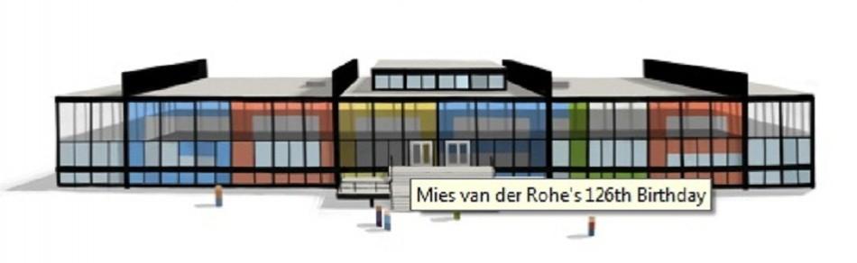 Google Doodle on Mies van der Rohe