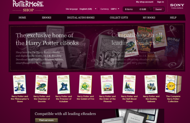 Pottermore website