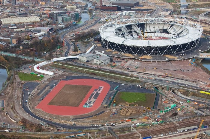 Aerial Views of the London 2012 Olympic Venue