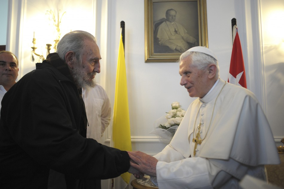 Pope Benedict XVI Meets Revolutionary Leader Fidel Castro in Cuba