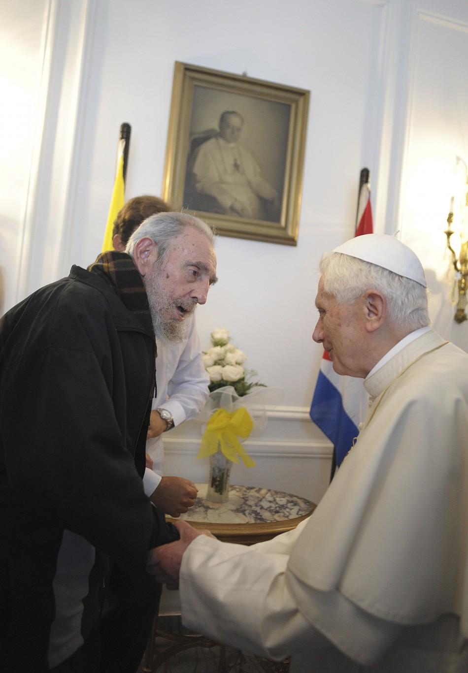 Pope Benedict XVI Meets Revolutionary Leader Fidel Castro in Cuba