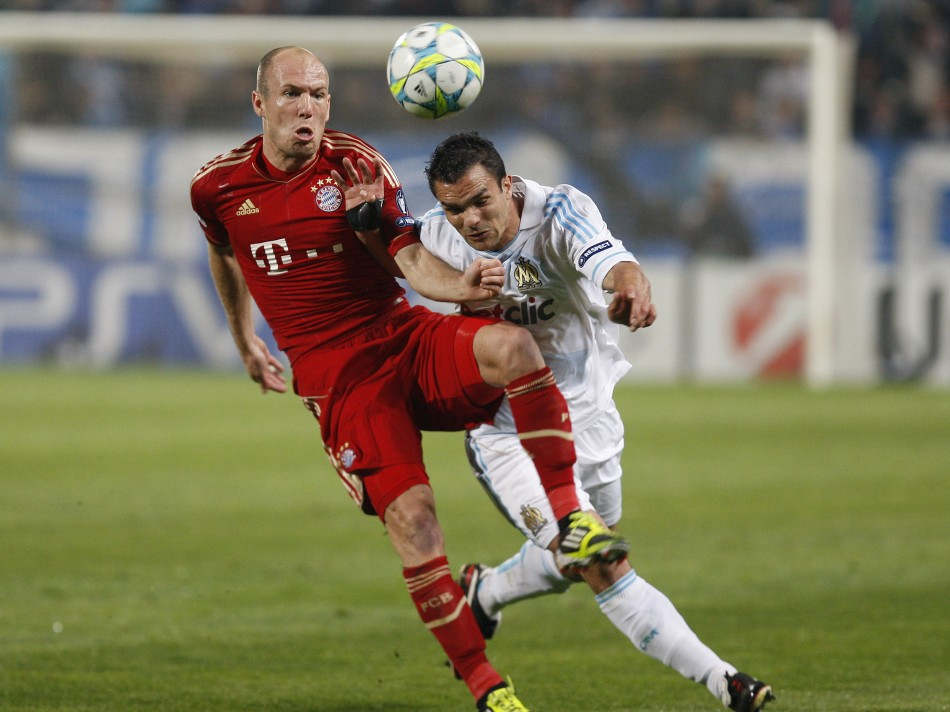 Soccer - Olympique Marseille v Bayern Munich - First Leg - Quarter-Finals - Champions League - Velodrome Stadium
