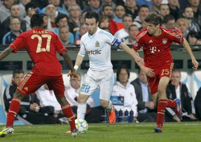 Soccer - Olympique Marseille v Bayern Munich - First Leg - Quarter-Finals - Champions League - Velodrome Stadium