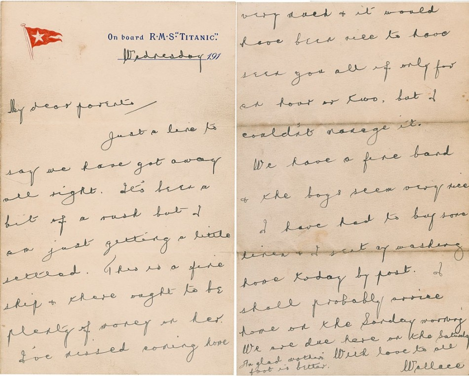 Wallace Hartleys letter
