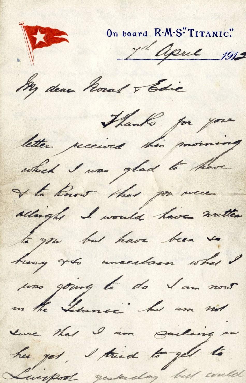 Henry Wilde's letter