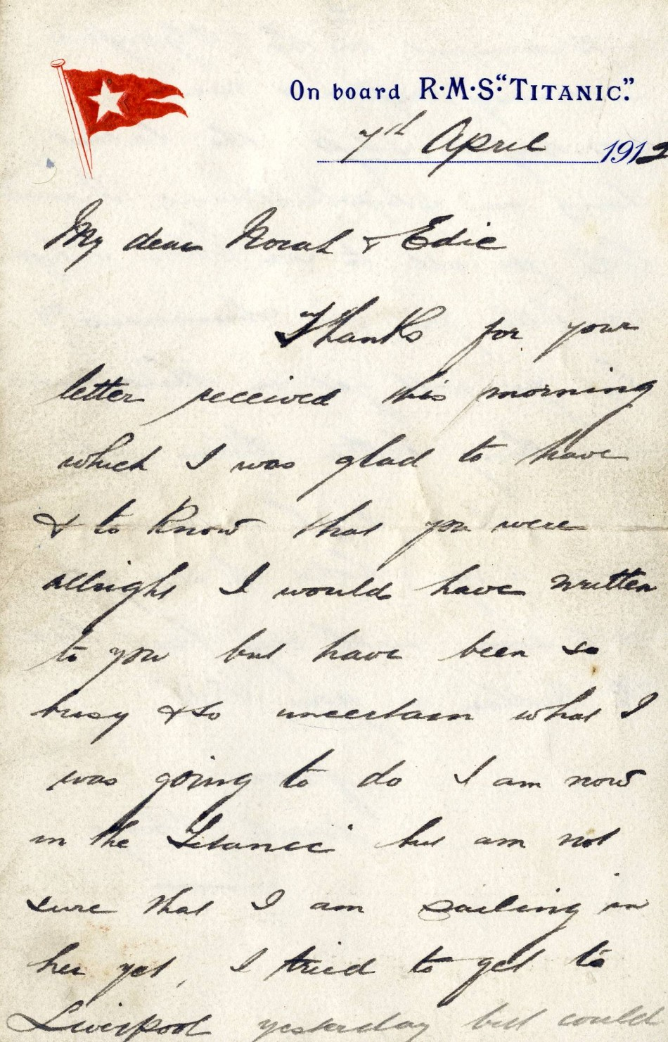 Henry Wildes letter