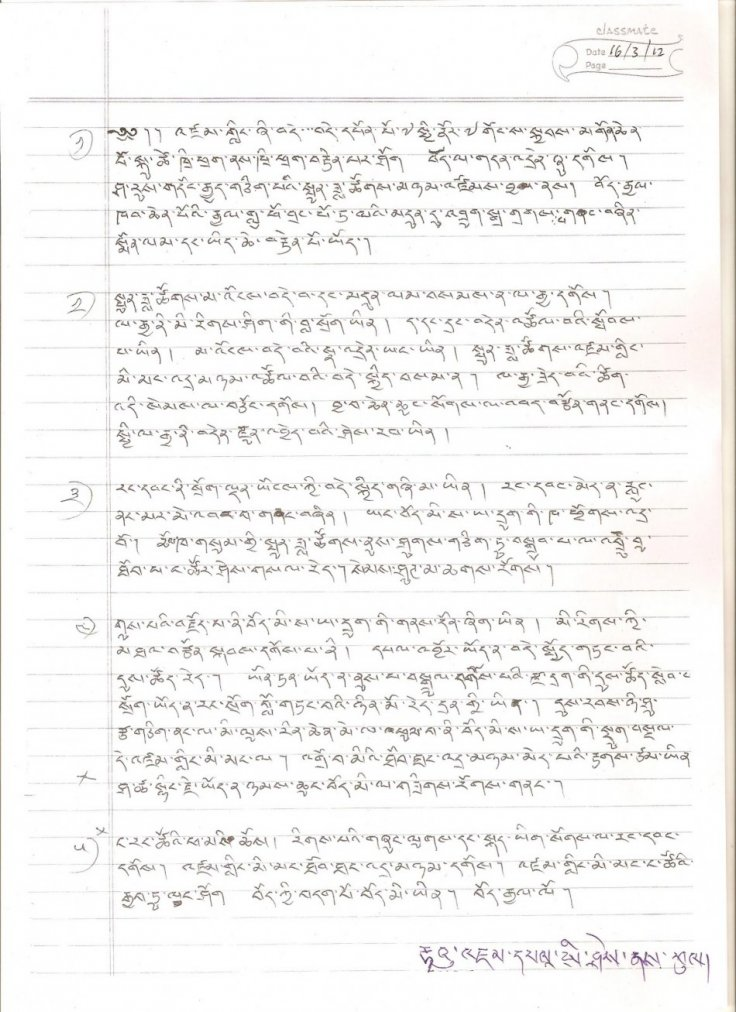 Jamphel Yeshi's letter to his fellow Tibetans