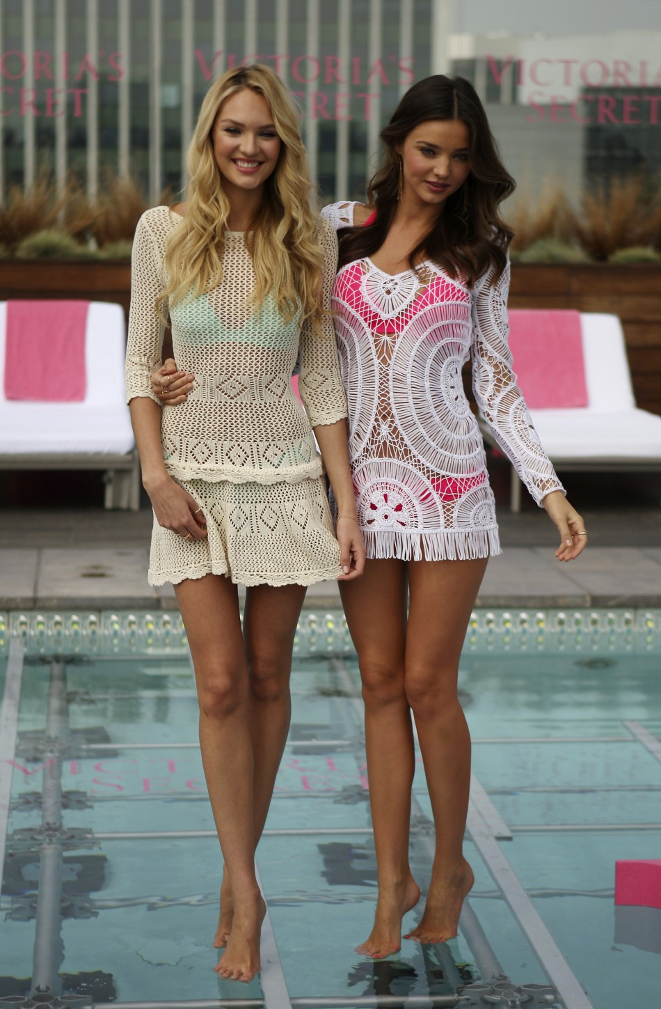 Candice Swanepoel, Miranda Kerr Sizzles in Victorias Secret 2012 Swim Collection Launch