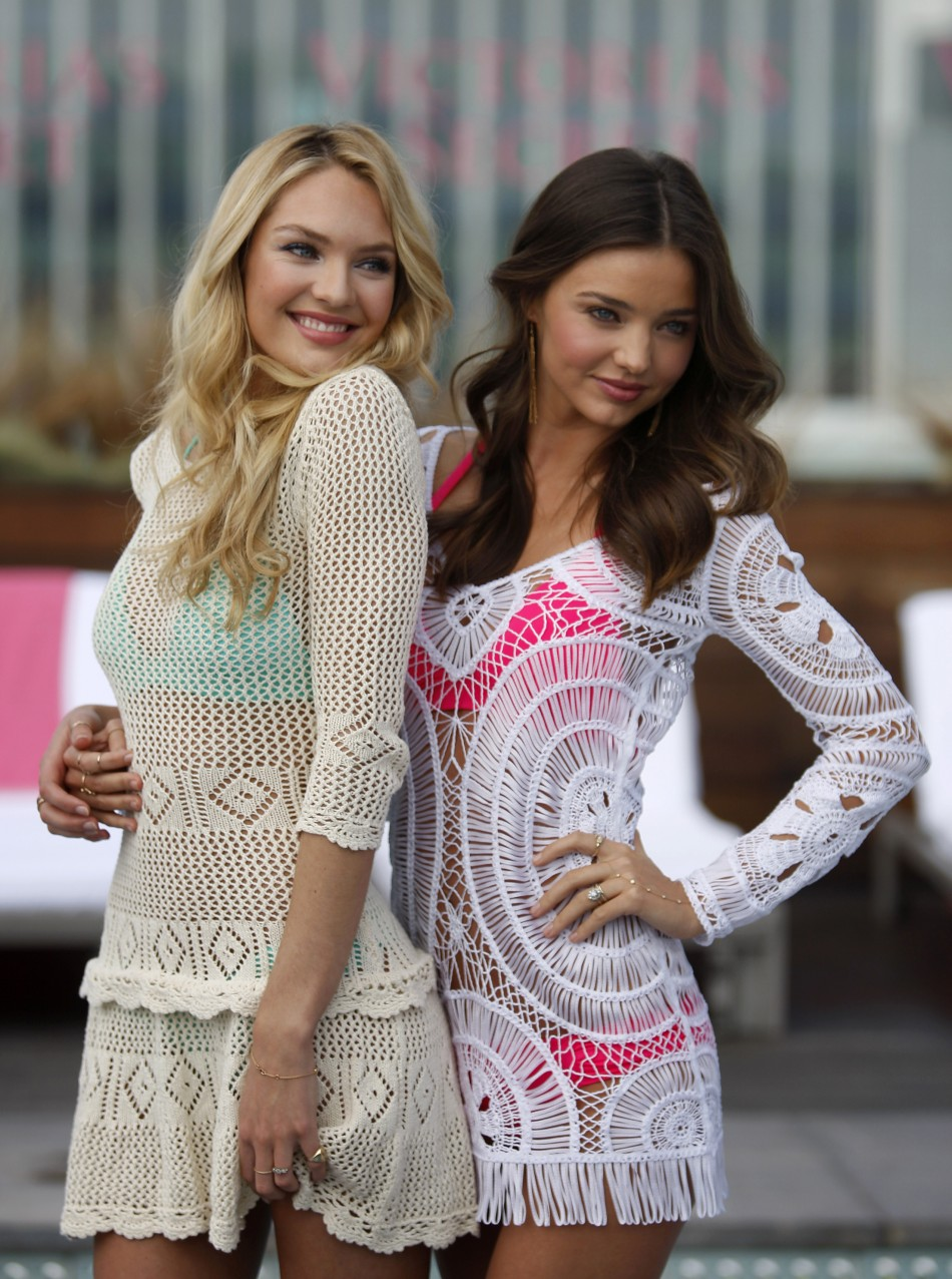 Candice Swanepoel, Miranda Kerr Sizzles in Victoria's Secret 2012 Swim Collection Launch
