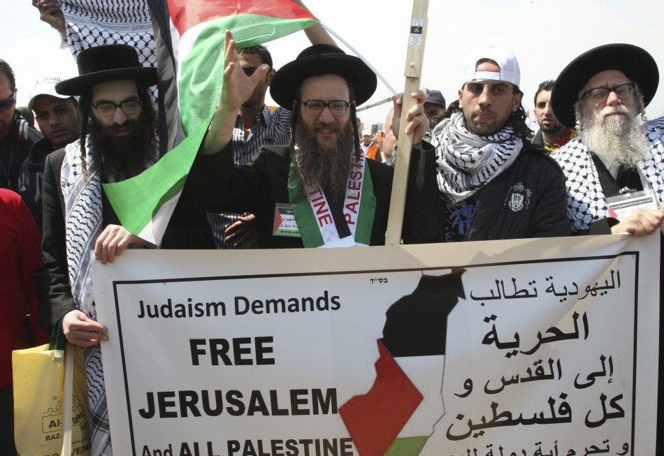 Members of the organisation Jews United Against Zionism join activities in Jordan